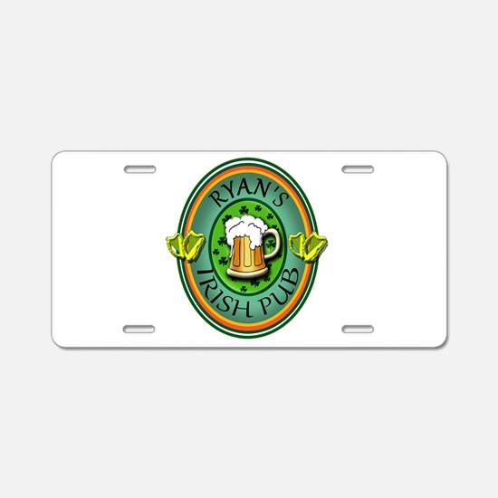 CUSTOM Irish Pub Sign Aluminum License Plate