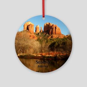 Sedona_11.5x11.5_CathedralRock Round Ornament