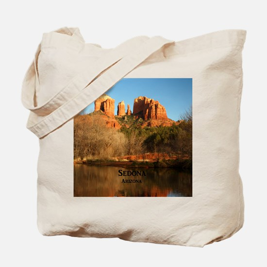 Sedona_11.5x11.5_CathedralRock Tote Bag