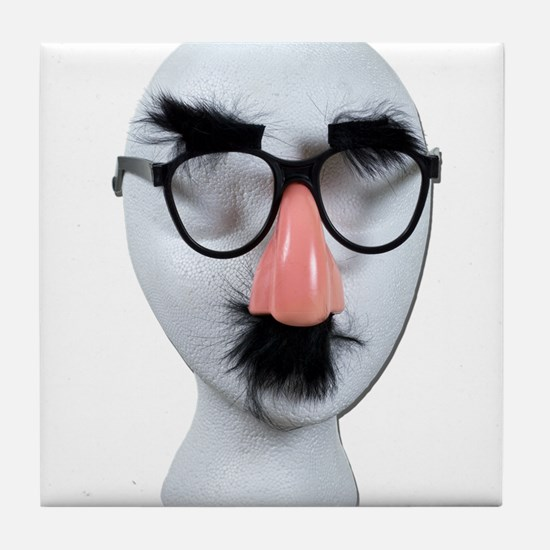 AnonFaceGlassesEyebrows090411.png Tile Coaster