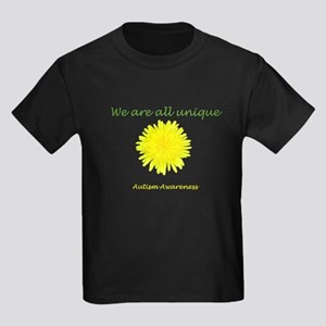 We are unique: Dandelion Kids Dark T-Shirt