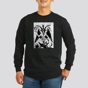 Vintage Black Baphomet Long Sleeve T-Shirt