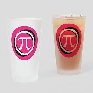 Pink Pi Drinking Glass