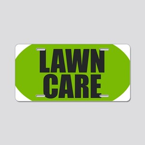 Lawn Care Aluminum License Plate