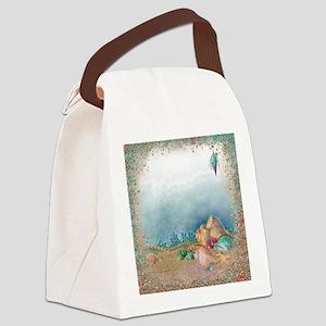 Beach sparkles with seashells Canvas Lunch Bag