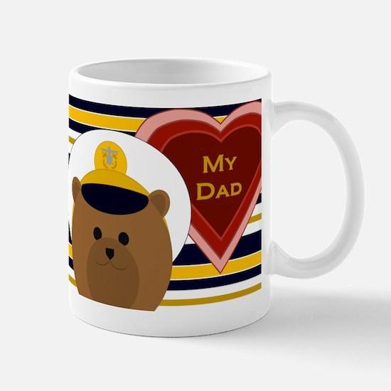 Navy Officer Hero Dad Valentine Mugs