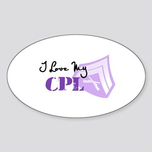 I love my Cpl Oval Sticker