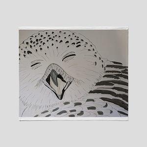 Laughing owl Throw Blanket