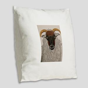 Irish Sheep Burlap Throw Pillow