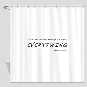 Know It All Shower Curtain