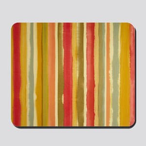 Earthy Rust Stripes Mousepad