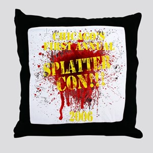 Splatter Con!!! Dark Throw Pillow