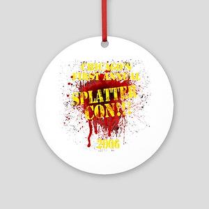 Splatter Con!!! Dark Round Ornament