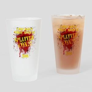 Splatter Con!!! Dark Drinking Glass