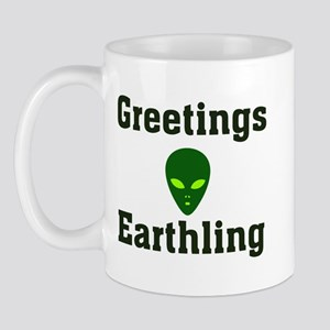 Greetings Earthling Mug