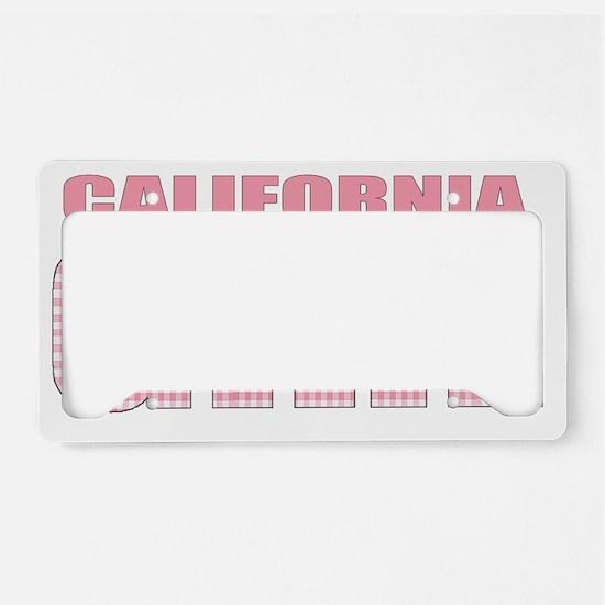 california License Plate Holder