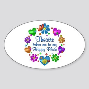Theatre My Happy Place Sticker (Oval)