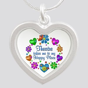 Theatre My Happy Place Silver Heart Necklace