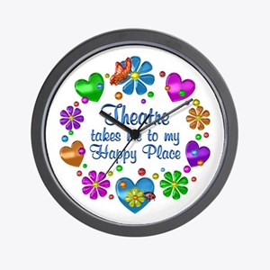 Theatre My Happy Place Wall Clock