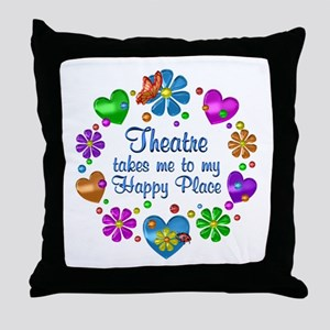 Theatre My Happy Place Throw Pillow