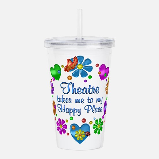 Theatre My Happy Place Acrylic Double-wall Tumbler