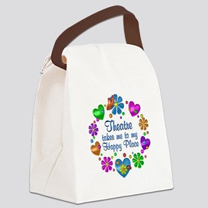 Theatre My Happy Place Canvas Lunch Bag