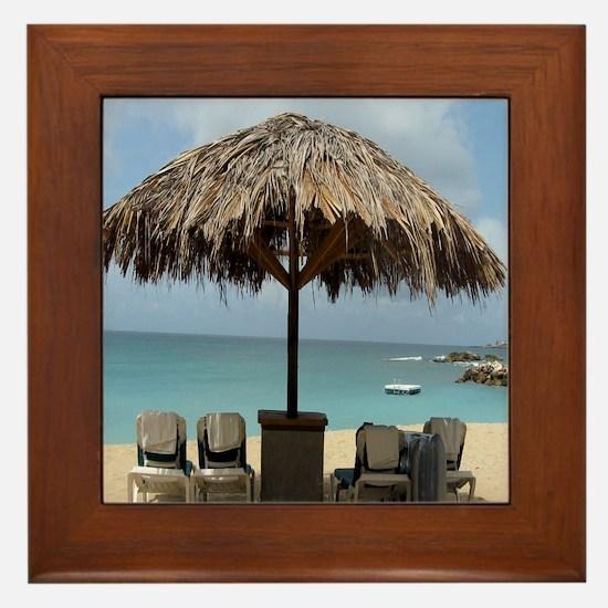 St. Martin Beach 3 Framed Tile