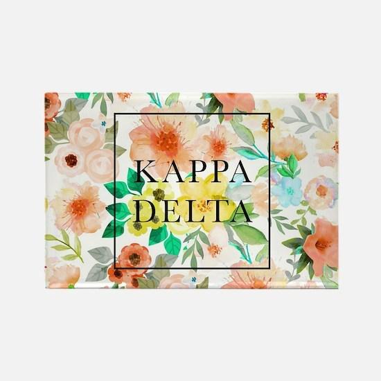 Kappa Delta Floral Rectangle Magnet