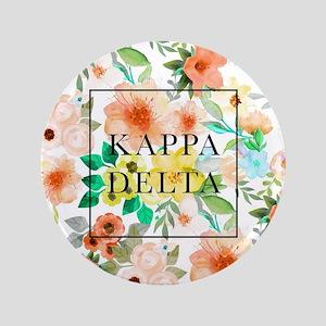 "Kappa Delta Floral 3.5"" Button"