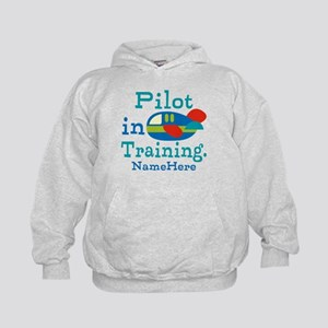 Personalized Pilot in Training Kids Hoodie