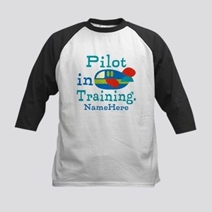 Personalized Pilot in Training Kids Baseball Jerse