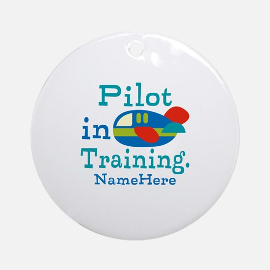 Personalized Pilot in Training Ornament (Round)