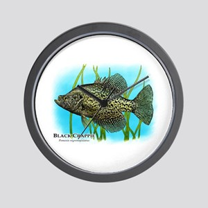 Black Crappie Wall Clock