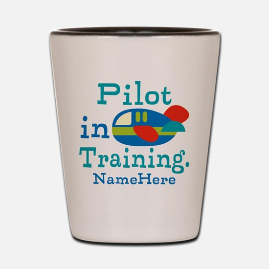 Personalized Pilot in Training Shot Glass