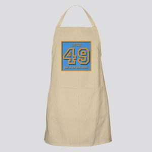 49, one in the box, Boss Apron