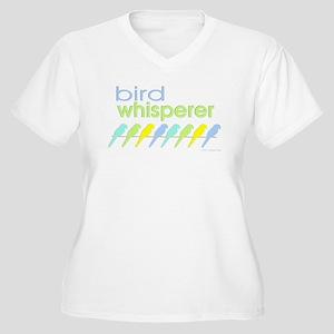 bird whisperer Women's Plus Size V-Neck T-Shirt
