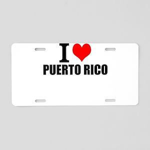 I Love Puerto Rico Aluminum License Plate