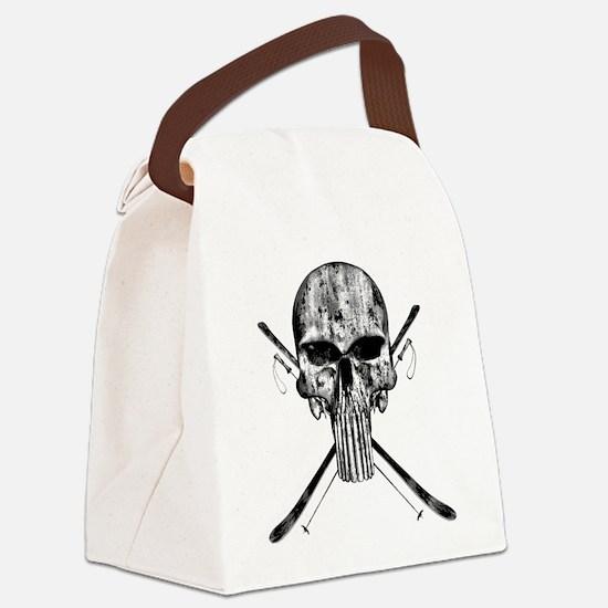 Ski Skull Canvas Lunch Bag