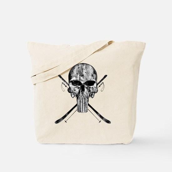 Ski Skull Tote Bag