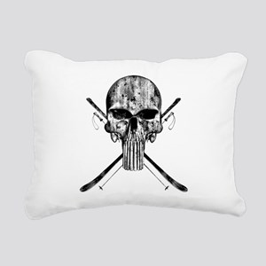 Ski Skull Rectangular Canvas Pillow