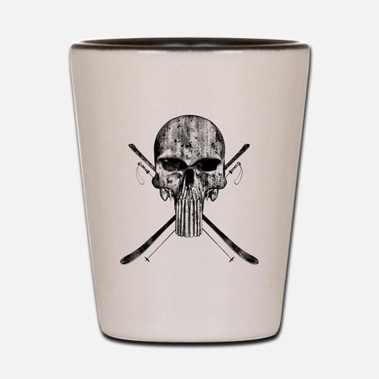 Ski Skull Shot Glass
