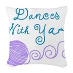 Dances With Yarn Woven Throw Pillow