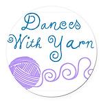 Dances With Yarn Round Car Magnet