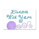 Dances With Yarn Rectangle Car Magnet