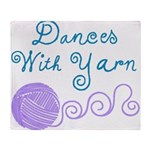 Dances With Yarn Throw Blanket