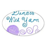 Dances With Yarn Sticker (Oval 50 pk)