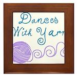 Dances With Yarn Framed Tile