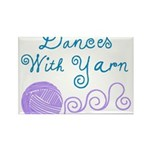 Dances With Yarn Rectangle Magnet