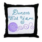 Dances With Yarn Throw Pillow