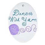 Dances With Yarn Oval Ornament